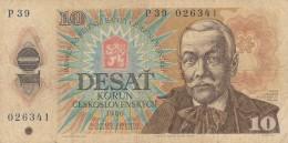 CECOSLOVACCHIA 10 KORUN -VF (BA55 - Tchécoslovaquie
