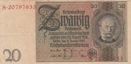 GERMANIA 1929-36 20 REICHSMARCK- EF (BA58 - Germania