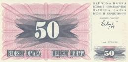 BOSNIA 50 DINARI- UNC (BA75 - Bosnia Erzegovina