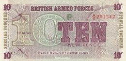 BRITISCH ARMED FORCES -10 NEW PENCE-UNC (BA77 - Autorità Militare Britannica