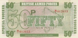 BRITISCH ARMED FORCES -50 NEW PENCE-UNC (BA78 - British Military Authority