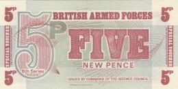 BRITISCH ARMED FORCES -5 NEW PENCE-UNC (BA80 - Emissioni Militari