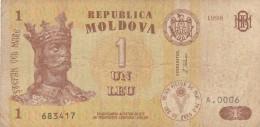 MOLDOVA 1 LEU - VF (BA82 - Moldavia