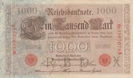 GERMANIA 1910 1000 MARCHI -EF (BA116 - [ 3] 1918-1933: Weimarrepubliek