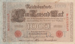 GERMANIA 1910 1000 MARCHI -EF (BA117 - [ 3] 1918-1933 : République De Weimar