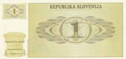SLOVENIA 1 TOLAR - AU (BA125 - Slovenia