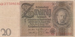 GERMANIA 1929-36 20 REICHSMARCK- VF (BA151 - Germania