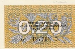 LITUANIA 0,20 TALONAS -UNC (BA163 - Lituania