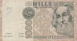ITALIA 1000 LIRE -VF (BA184 - [ 2] 1946-… : Républic