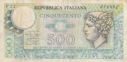 ITALIA 500 LIRE - VF (BA185 - [ 2] 1946-… : Républic