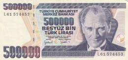 TURCHIA 500000 LIRE - EF (BA214 - Turkije