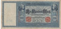 GERMANIA 100 MARCHI 1908 - VF (BA222 - [ 3] 1918-1933: Weimarrepubliek