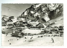 18372    CPM  LA MONGIE  Vue Générale , Départ Du Téléphérique Pour Le Taoulet ; Superbe Carte Photo , ACHAT DIRECT !! - Andere Gemeenten