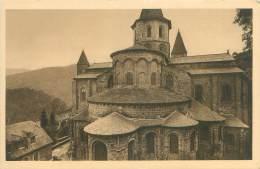 12 - CONQUES - L'Eglise (XIe S.) - Vue De L'Abside (côté Extérieur) - France