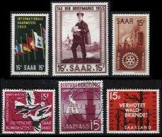SARRE, Yv 340/2, 390, 413, 417: Mi 358/60, 408, 431, 435, */o M/U, VF/XF, Cat. € 4,00 - 1947-56 Occupation Alliée