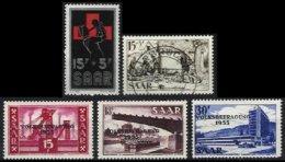 SARRE, Yv 343/6, 352: Mi 360, 362/4, 370, */o M/U, VF/XF, Cat. € 3,00 - 1947-56 Occupation Alliée