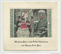 BIGLIETTO AUGURALE CM.12,5X11,5 - Kerstmis
