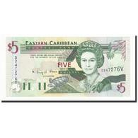 Etats Des Caraibes Orientales, 5 Dollars, Undated (1994), KM:31v, NEUF - Caraïbes Orientales