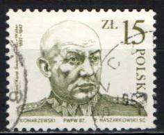 POLONIA - 1987 - RITRATTO DEL GENERALE SWIERCZEWSKI - USATO - 1944-.... Republiek