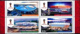 Russia, 2017, Mi. 2465-68, Sc. 7844, 2018 FIFA World Cup Russia™, Stadiums, MNH - 1992-.... Federation