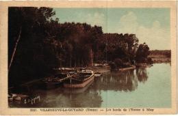 VILLENEUVE LA GUYARD LES BORDS DE L'YONNE A MISY ,PENICHES   REF 53590 - Houseboats