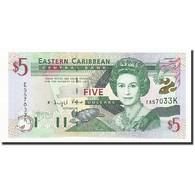 Etats Des Caraibes Orientales, 5 Dollars, Undated (2000), KM:37k1, NEUF - Caraïbes Orientales
