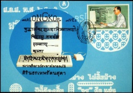LANGUAGES-HINDI-SANSKRIT-THAI-COMPUTER COMMUNICATION-MAXIMUM CARD-THAILAND-1997-IC-219 - Sprachen