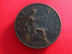Royaume-Uni - UK - Half Penny 1899 5501 - 1816-1901 : Frappes XIX° S.