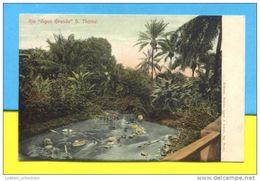 SÃO TOMÉ E PRINCIPE YEAR 1900 ROÇA AGUA GRANDE LAVANDEIRAS LAVANDIERES WASHERWOMEN AFRICA AFRIKA AFRIQUE POSTCARD - Sao Tome And Principe