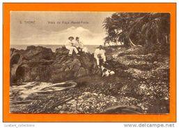 SÃO TOMÉ E PRINCIPE ROÇA MONTE FORTE 1910 YEARS AFRIKA AFRICA AFRIQUE PRAIA PLAGE BEACH & PEOPLE POSTCARD - Sao Tome And Principe