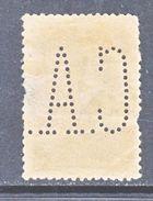 PORTUGAL  234   Perf  15 X 14  (o)  PERFIN   ORDINARY  PAPER - 1910-... Republic