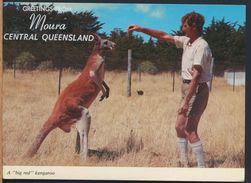 °°° 8087 - AUSTRALIA - GREETINGS FROM MOURA - A BIG RED KANGAROO - With Stanps °°° - Australia