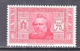 ITALY  274   *   DANTI  SOCIETY - 1900-44 Vittorio Emanuele III