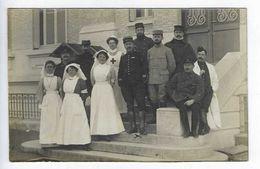CPA Photo Hôpital Temporaire Mondeville Caen 1915 Docteur Fortin Médecin Chef Et Son équipe Médicale - Guerre 1914-18
