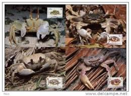 Cocos Keeling Islands 2000 WWF W.W.F. Crabs MC Set X4 Fauna Marine Life - Maximum Cards