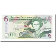Etats Des Caraibes Orientales, 5 Dollars, Undated (1994), KM:31a, NEUF - Caraïbes Orientales