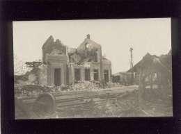 51 Avize Carte Photo Après L'accident ( 12/06/1918 ) Ruines De La Gare  Chemin De Fer  Train - France