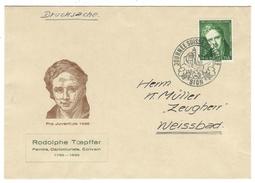 Suisse // Schweiz // Switzerland //  Pro-Juventute  1946 Lettre R.Toepffer Journée Du Timbre - Pro Juventute