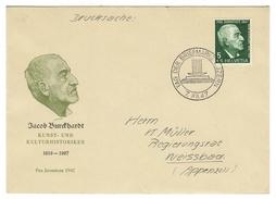 Suisse // Schweiz // Switzerland //  Pro-Juventute  1947 Lettre J. Burckhardt Journée Du Timbre 1947 - Lettres & Documents