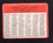 """1961 Calendrier De Poche """"Crédit Du Nord"""" à Lille & Lisieux ,bureau à Villers Sur Mer 14  >> Banque - Calendriers"""