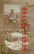 GUERRE 14 - POILU Dans Une TRANCHEE <  CARTE PATRIOTIQUE - Guerre 1914-18