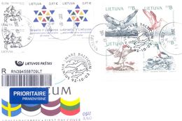 2017. Lithuania, The Letter Sent By Registered Prioritaire Post To Moldova - Litauen