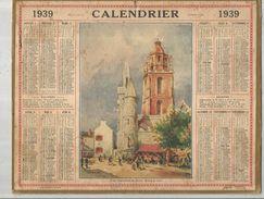 Calendrier Grand Format 9 Pages , 1939, NORD  ,2 Scans , Frais Fr : 2.70 Euros - Big : 1921-40