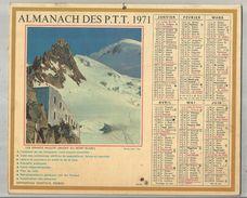 Calendrier Grand Format 16 Pages , ALMANACH 1971 DES P.T.T. , 86, VIENNE ,2 Scans , Frais Fr : 2.70 Euros - Calendars