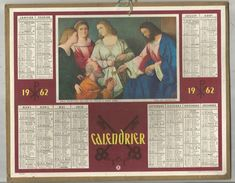 Calendrier Grand Format 10 Pages , 1962, AISNE  ,2 Scans , Frais Fr : 2.70 Euros - Big : 1961-70