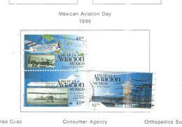 Messico 1996 Giornata Aviazione .Scott.1954+Usato N.3 Valori - Mexico