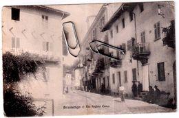 BRUSNENGO (NOVARA) VIA REGINA ELENA VIAGGIATA 1915 - Novara