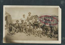 NN626 - Carte Photo Scène De Plage - BLANVILLE - BLAINVILLE ?- Claude Grimace 1935 - Blainville Sur Mer