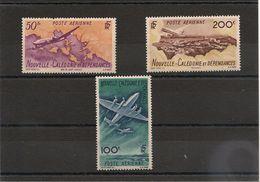 NOUVELLE CALEDONIE  P.A. Année 1948 N°Y/T : 61/63*/**  Côte :35,00 € - Poste Aérienne