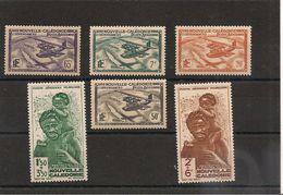 NOUVELLE CALEDONIE  P.A. Années 1938/40 N°Y/T :29-31-33-34-36-37 - Poste Aérienne
